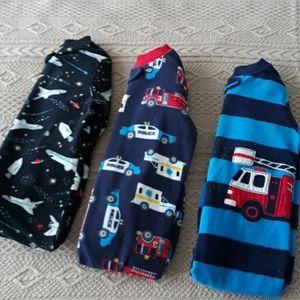 Baby boy bundle fleece footed pajamas carters 24m